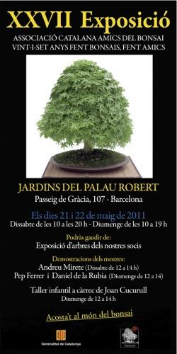 Cartel XXVII Exposició Associació Catalana Amics del Bonsai