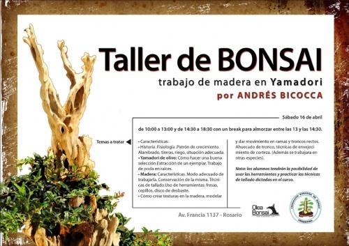 Cartel Taller de Bonsai por Andres Bicocca