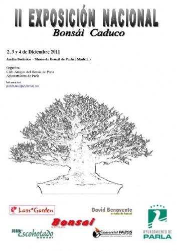 Cartel II Exposición Nacional de Bonsái Caduco