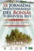 Cartel IX Jornadas Mediterraneas del Bonsai Torrevieja 2011